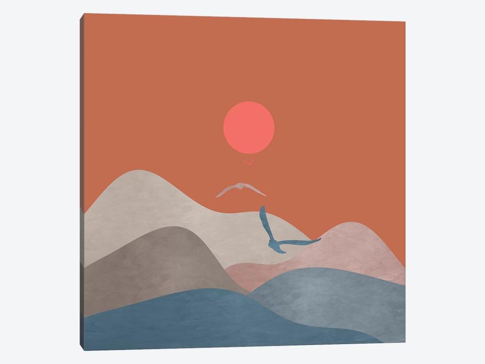 Minimal Sunset XIII by Viviana Gonzalez 1-piece Canvas Print