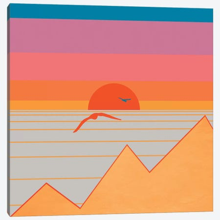 Minimal Sunset XVII Canvas Print #VGO127} by Viviana Gonzalez Art Print
