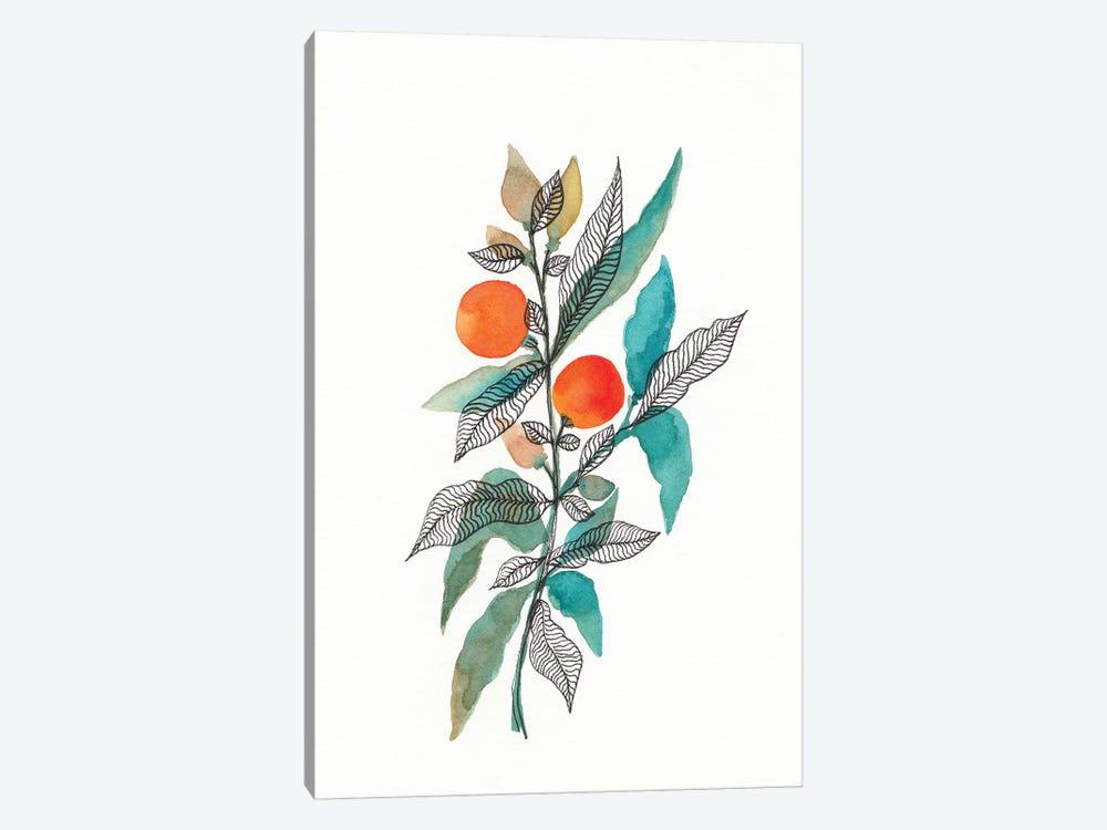 Watercolor + Ink Leaves III by Viviana Gonzalez 1-piece Canvas Wall Art