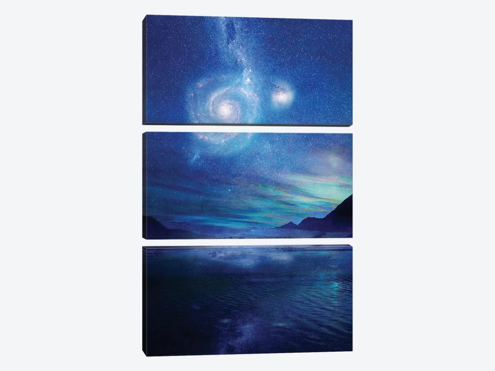 Poetry In The Sky by Viviana Gonzalez 3-piece Canvas Art Print