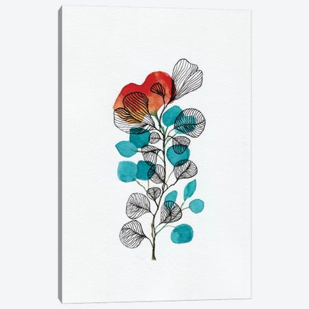 Watercolor + Ink Leaves II Canvas Print #VGO140} by Viviana Gonzalez Canvas Wall Art