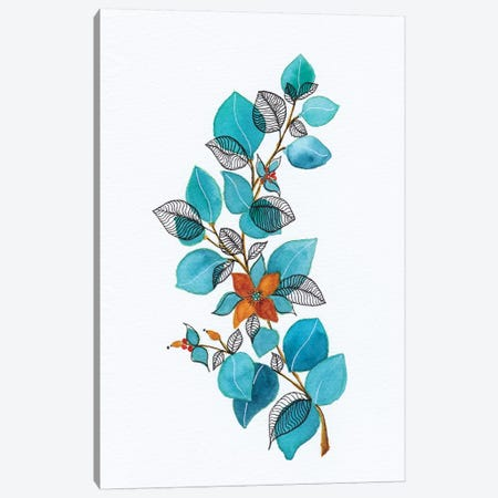 Watercolor + Ink Leaves Iv Canvas Print #VGO141} by Viviana Gonzalez Canvas Art