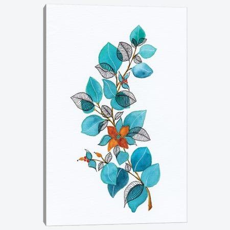 Watercolor + Ink Leaves Iv Canvas Print #VGO141} by Viviana Gonzalez Canvas Art