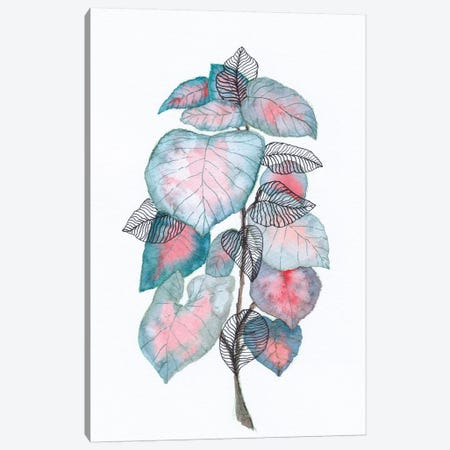 Watercolor + Ink Leaves V Canvas Print #VGO142} by Viviana Gonzalez Canvas Wall Art