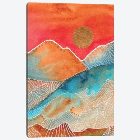 Watercolor Landscape & Line Art I 3-Piece Canvas #VGO150} by Viviana Gonzalez Art Print