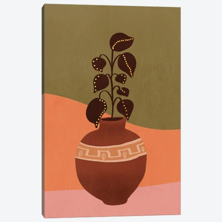 Plant In A Pot VI Canvas Print #VGO155} by Viviana Gonzalez Canvas Art