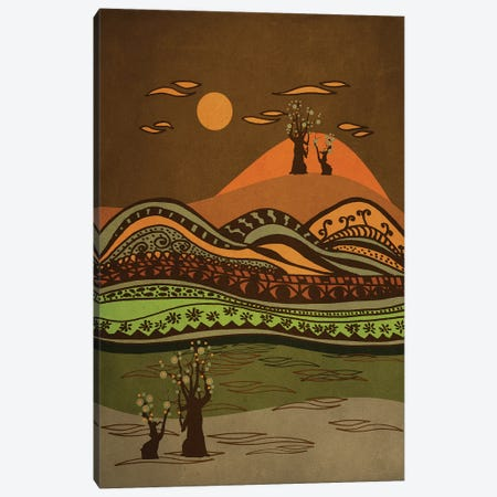 Psychedelic Mountains Canvas Print #VGO15} by Viviana Gonzalez Canvas Art Print