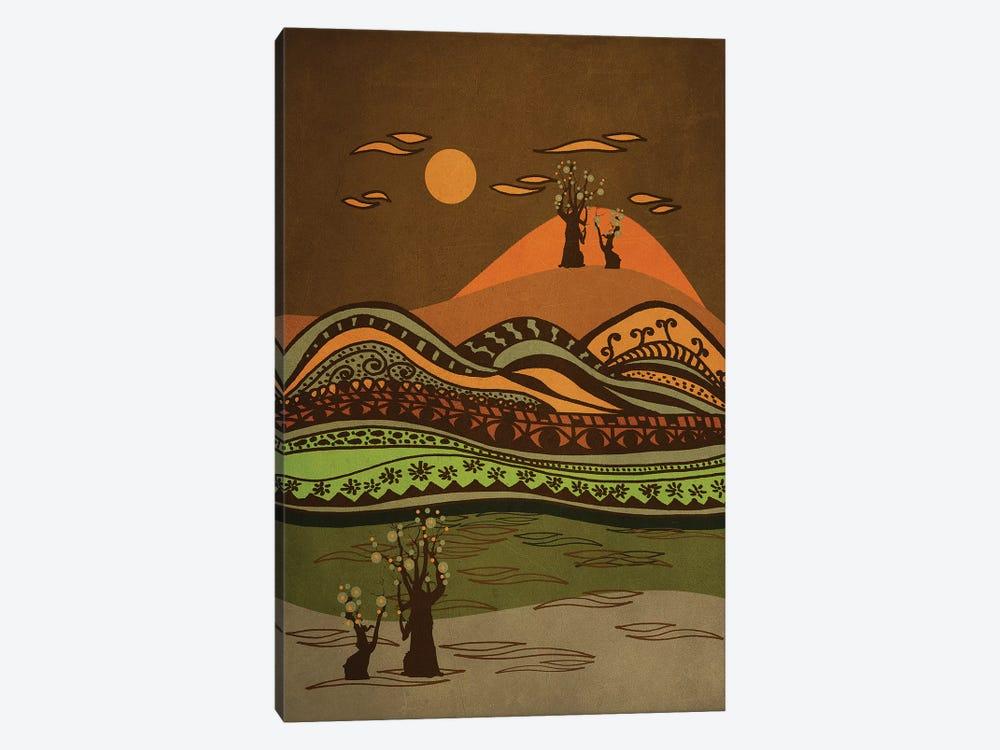 Psychedelic Mountains by Viviana Gonzalez 1-piece Canvas Print