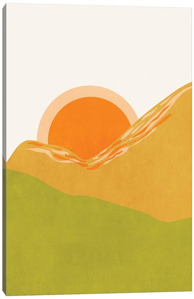Minimal Abstract Sunset Ii Canvas Art Print