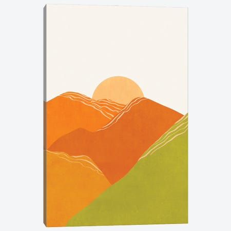 Minimal Abstract Sunset Iii Canvas Print #VGO168} by Viviana Gonzalez Canvas Wall Art