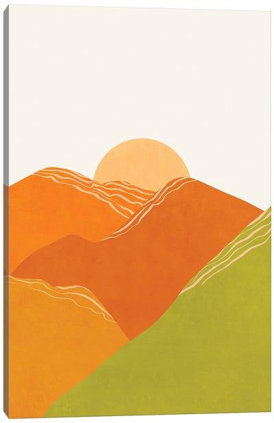 Minimal Abstract Sunset Iii Canvas Art Print