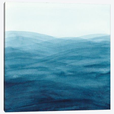 Watercolor Abstract Waves Canvas Print #VGO169} by Viviana Gonzalez Canvas Artwork