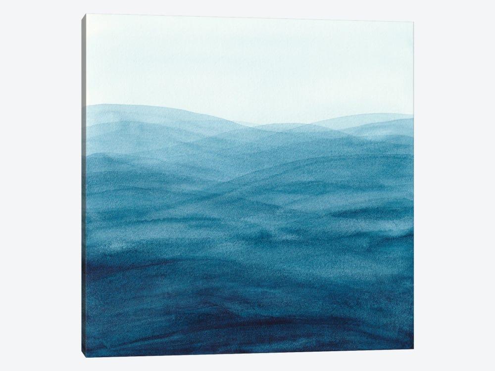 Watercolor Abstract Waves by Viviana Gonzalez 1-piece Canvas Wall Art