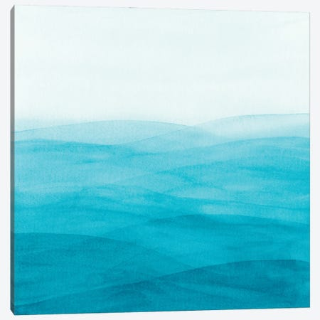 Watercolor Abstract Waves II Canvas Print #VGO170} by Viviana Gonzalez Art Print