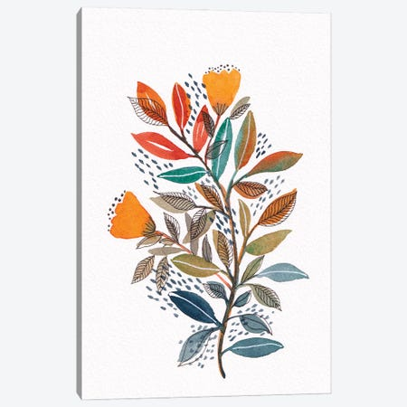 Modern Watercolor Botanicals II Canvas Print #VGO175} by Viviana Gonzalez Canvas Wall Art