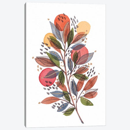 Modern Watercolor Botanicals III Canvas Print #VGO176} by Viviana Gonzalez Canvas Artwork
