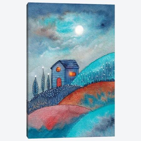 Full Moon In The Mountains Canvas Print #VGO179} by Viviana Gonzalez Art Print