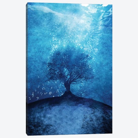 Songs From The Sea Canvas Print #VGO18} by Viviana Gonzalez Canvas Artwork