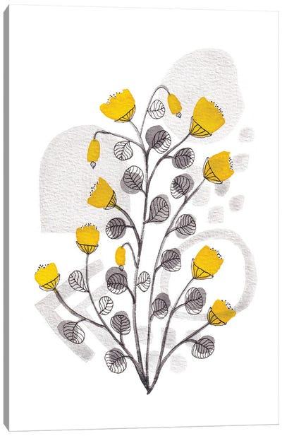 Organic Watercolor Botanicals I Canvas Art Print