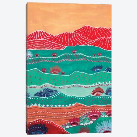 Boho Landscape And Red Mountains Canvas Print #VGO212} by Viviana Gonzalez Canvas Artwork