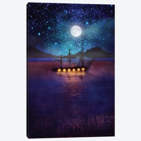 The Lights And The Silent Water Canvas Print #VGO22} by Viviana Gonzalez Art Print