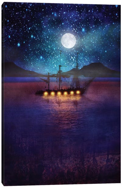 The Lights And The Silent Water Canvas Art Print
