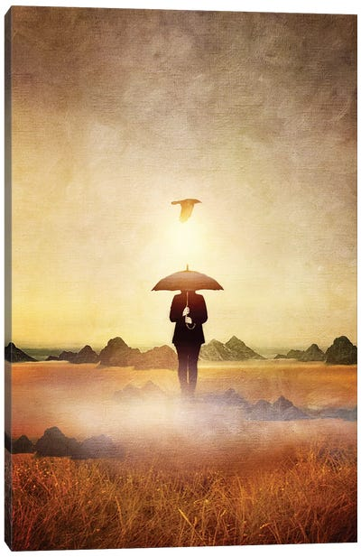 Waiting For The Rain Canvas Art Print