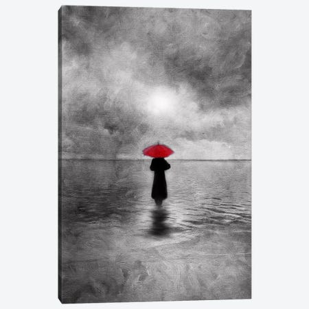 Waiting In The Sea Canvas Print #VGO27} by Viviana Gonzalez Canvas Wall Art