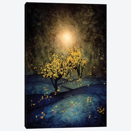 Yellow Autumn Canvas Print #VGO32} by Viviana Gonzalez Canvas Wall Art