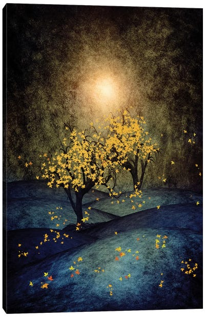 Yellow Autumn Canvas Art Print