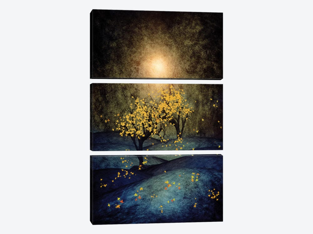 Yellow Autumn by Viviana Gonzalez 3-piece Canvas Artwork