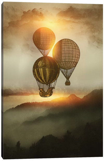 A Trip Down The Sunset Canvas Art Print