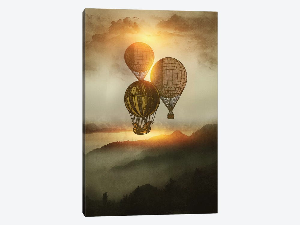 A Trip Down The Sunset by Viviana Gonzalez 1-piece Canvas Art Print