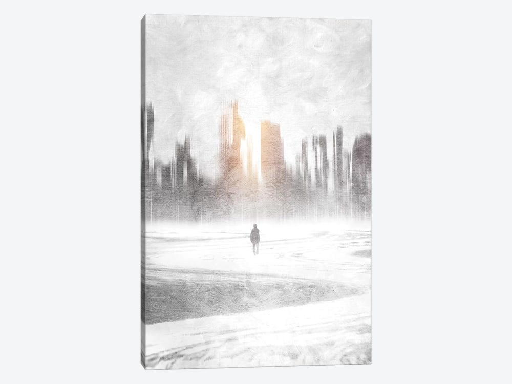 Grey Hope by Viviana Gonzalez 1-piece Canvas Wall Art