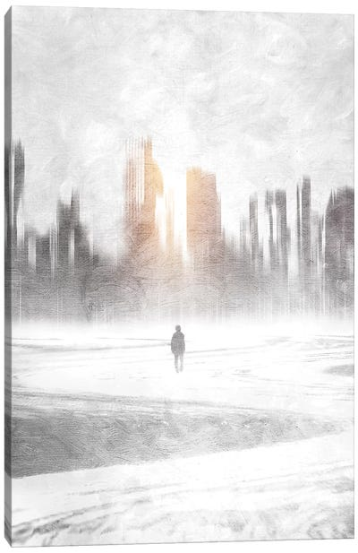 Grey Hope Canvas Art Print
