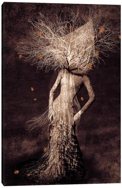 Dark Portrait In Autumn Canvas Art Print