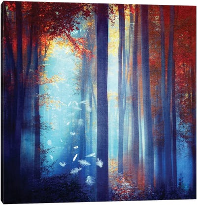 Dreams In Blue Canvas Art Print