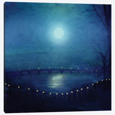 I'll Be Your Moon Canvas Print #VGO51} by Viviana Gonzalez Canvas Artwork