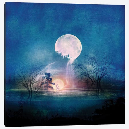 Moon Above, Sun Below Canvas Print #VGO53} by Viviana Gonzalez Canvas Wall Art