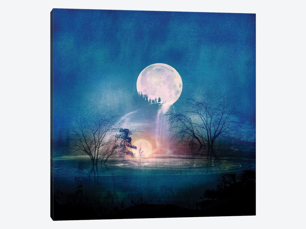 Moon Above, Sun Below 1-piece Canvas Print