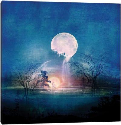 Moon Above, Sun Below Canvas Art Print