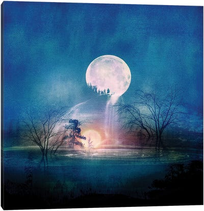 Moon Above, Sun Below Canvas Art Print