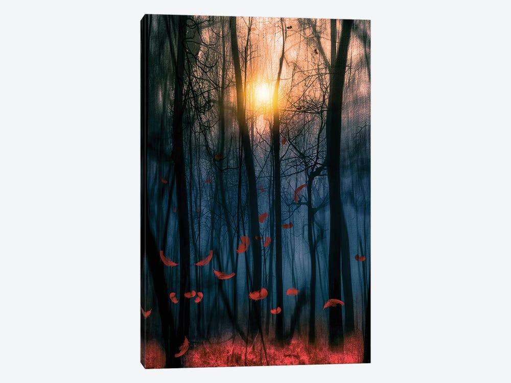 Red Feather Dance by Viviana Gonzalez 1-piece Art Print