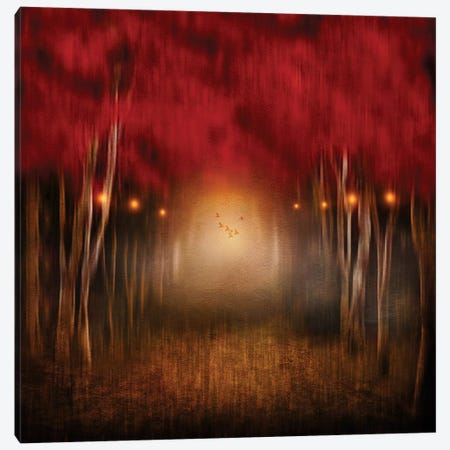 Red Melody Canvas Print #VGO56} by Viviana Gonzalez Canvas Print