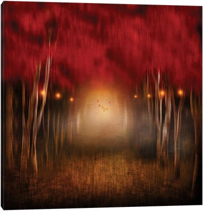 Red Melody Canvas Art Print