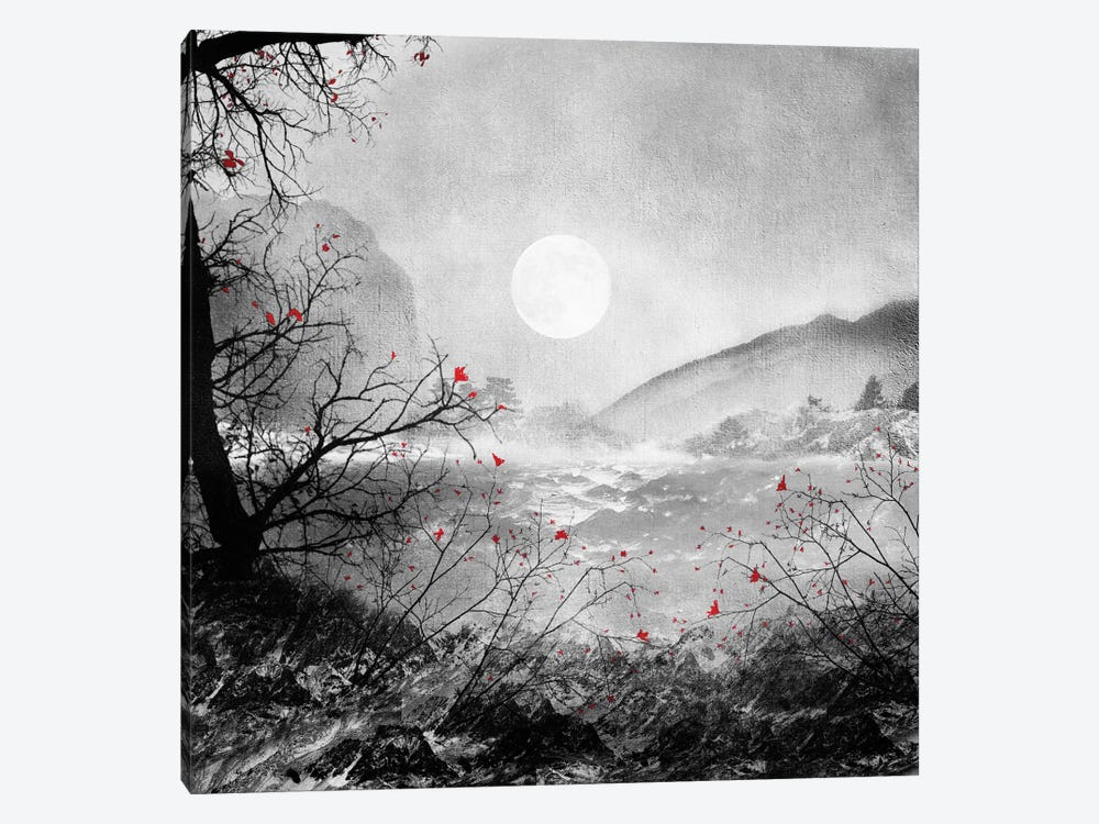 The Red Sounds and Poems, Chapter II 1-piece Canvas Wall Art