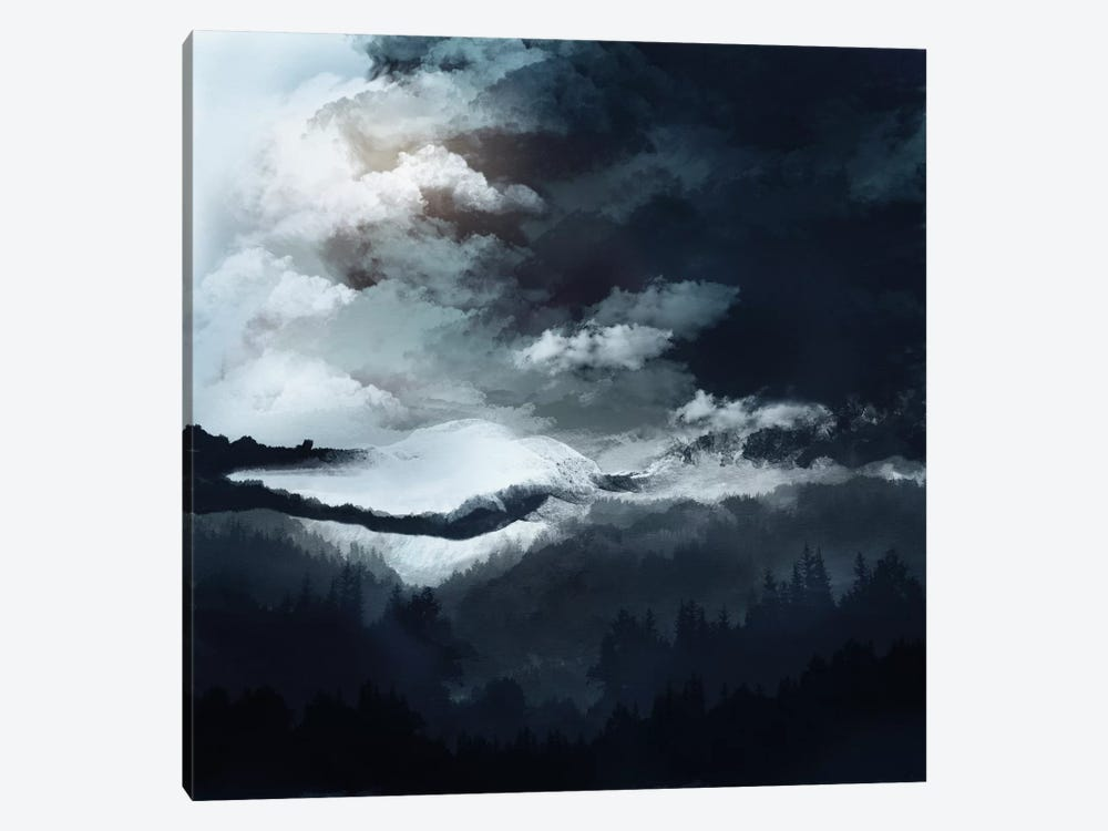 White Mountains 1-piece Canvas Print