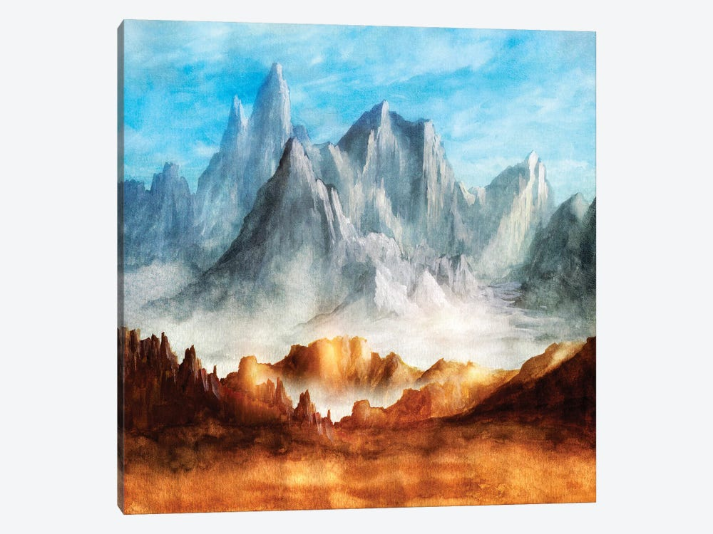 Over The Mountains I 1-piece Canvas Artwork