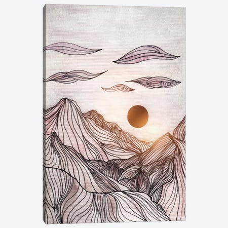 Lines In The Mountains I Canvas Print #VGO80} by Viviana Gonzalez Canvas Art Print