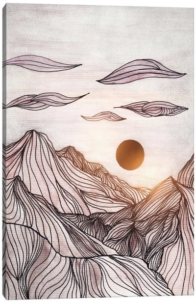 Lines In The Mountains I Canvas Art Print